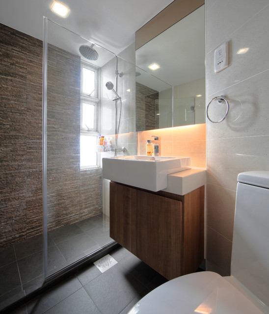 Pandan valley condo contemporary bathroom other for Condo bathroom designs