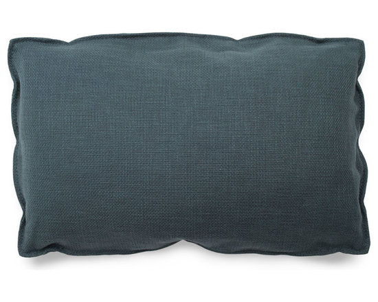 Blu Dot - Blu Dot Rectangle Pillow, Ocean - It may have four corners, but it certainly is no square. Available in 12 colors for you to play with.