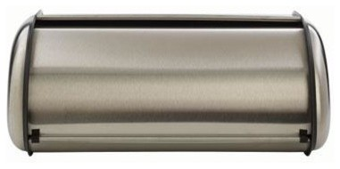 Brushed Steel Bread Box  Euro traditional-bread-boxes