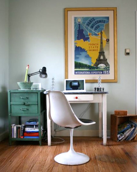Clutter office eclectic home office