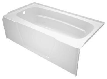 ASB Firenze 5-Foot Left-Drain Soaking Tub, White modern-bathtubs