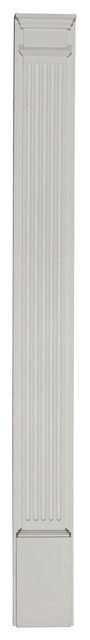"""5""""W x 90""""H x 2""""D with 16"""" Attached Plinth, Fluted Pilaster (each) modern-home-decor"""