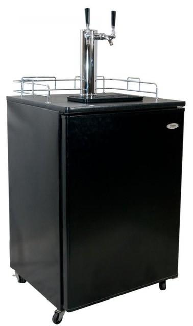 Countertop Keg Tap : Haier Dual-Faucet Kegerator Keg Beer Tap contemporary-wine-and-beer ...
