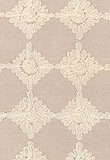 Fabric | Rosette Embroidery in Alabaster | Schumacher traditional fabric