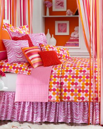 Dransfield & Ross Oblong Dot Pillow, 12 x 24 traditional-decorative-pillows