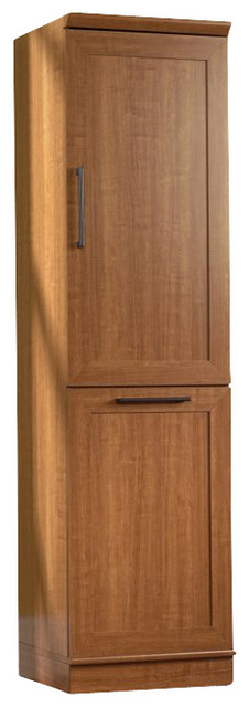 Sauder Homeplus Storage Cabinet in Sienna Oak transitional-storage-cabinets