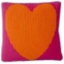 Butterscotch Blankees Pillow with Heart modern-decorative-pillows