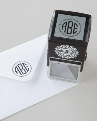 Three Designing Women Three-Initial Circle Monogram Stamper traditional-desk-accessories