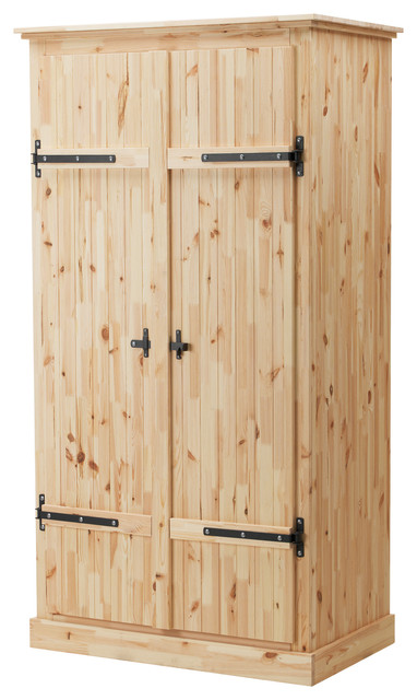 Fjell Wardrobe with 2 Doors, Pine - Traditional - by IKEA