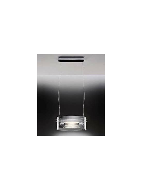 Vittoria S2C Pendant Lamp By Leucos Lighting - This Vittoria collection is a restyled version with a sparkling clear glass diffuser.