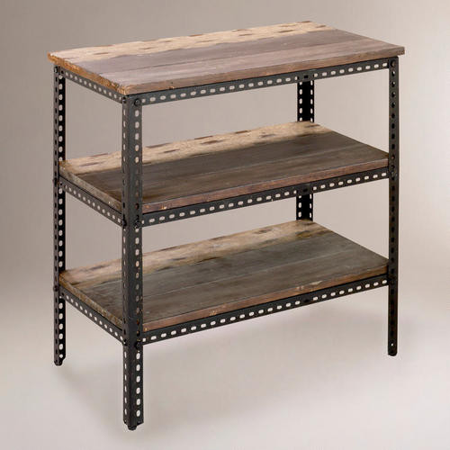 3-Shelf Industrial Metal Shelf - Traditional - Display And ...