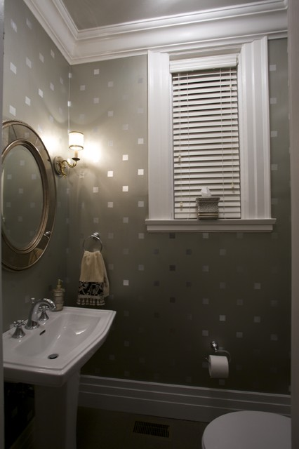 Joni Spear Interior Design contemporary powder room