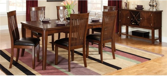 Regency 8 Pc Dining Set w Sideboard in Cherry contemporary-dining-sets