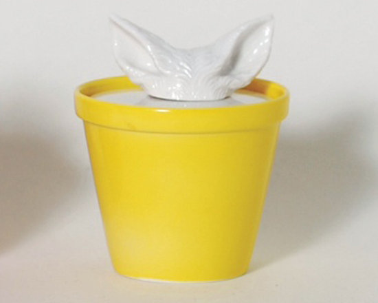 Fox Ears Container - A simple, fun and useful container for your home for those with the imagination and a soft spot for all four-legged creatures.