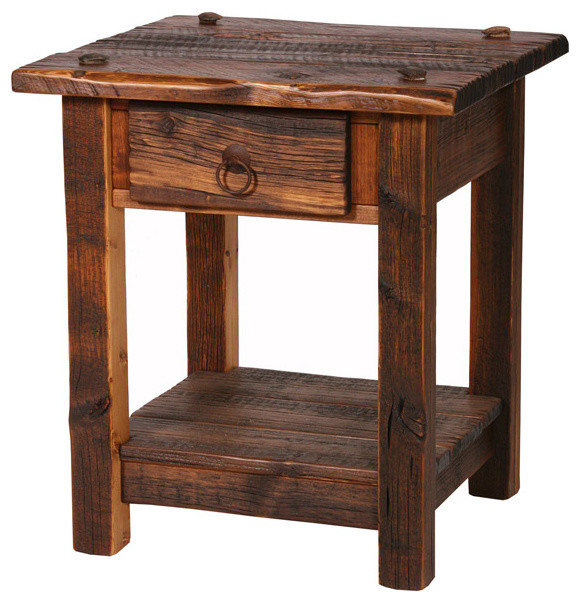 Rustic Heritage 1 Drawer Nightstand Rustic Side Tables