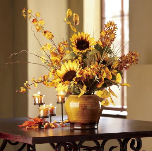 Sunflower Arrangement - contemporary - plants - by Through the ...