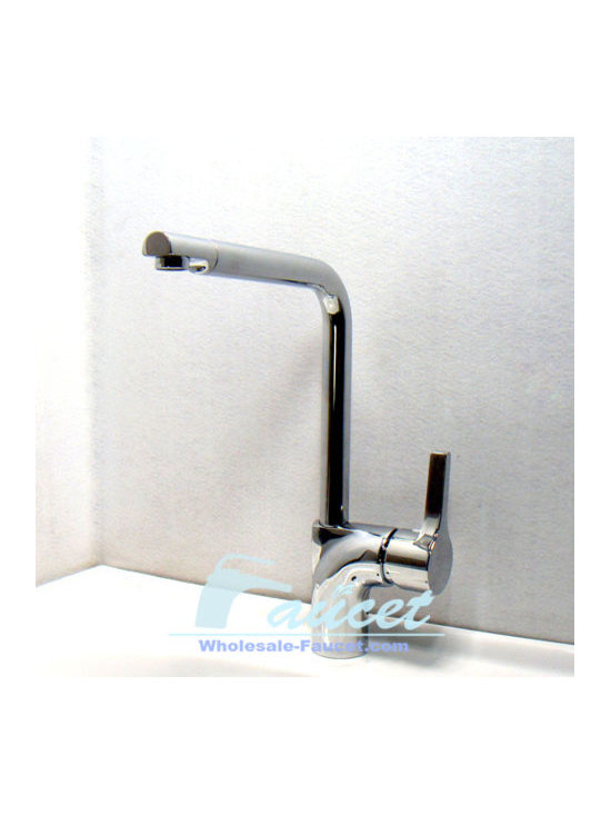Single Lever Chrome Kitchen Sink Faucet - Features: