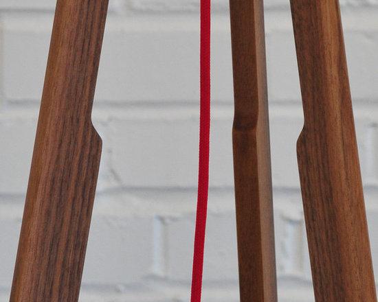 Solstice Floor Lamp (linen/red) - Detail of the Solstice Floor Lamp from Ample  |  www.amplefurniture.com
