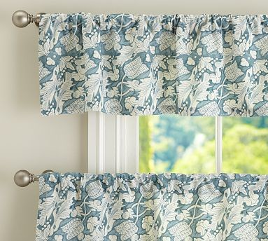 Maia Cafe Curtain 50 X 36 Blue Traditional Curtains By Pottery Barn
