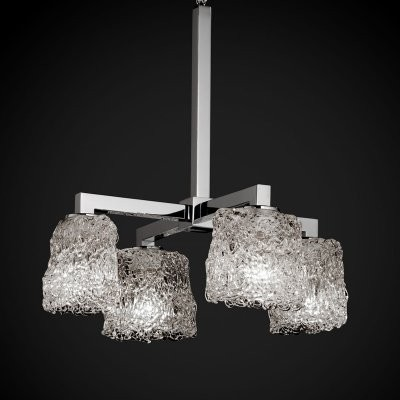 Justice Design Group Veneto Luce GLA-8920-30-LACE-CROM Modular 4-Downlight Chand modern-chandeliers