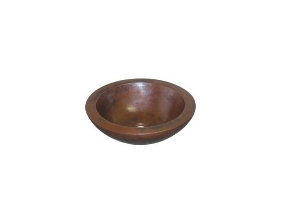 "Laguna In Antique - Laguna In Antique - Whether in an Antique copper or Brushed Nickel finish, this is a timeless addition to any bathroom. 16 gauge hammered copper. 1.5 In. drain. IAPMO listed / cUPC certified. Post-consumer recycled copper. 16"" W x 5"" H"