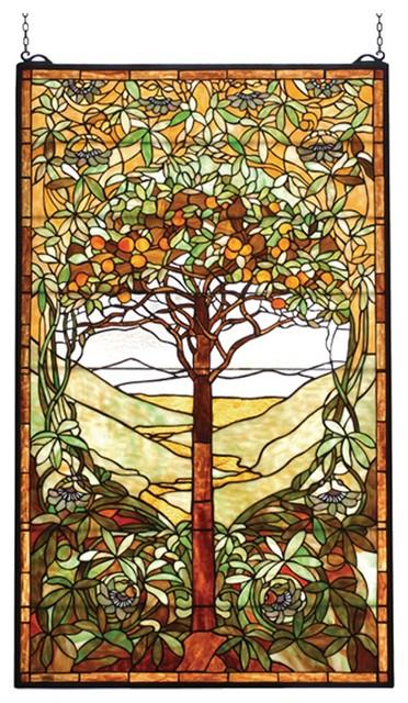 Meyda Tiffany Tiffany Tree Of Life Window X-56047 contemporary-stained-glass-panels