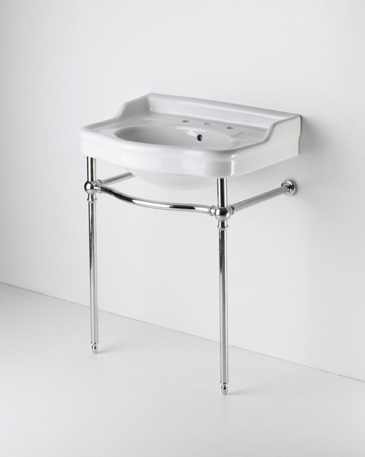 Two Leg Single Washstand - traditional - bathroom vanities and ...