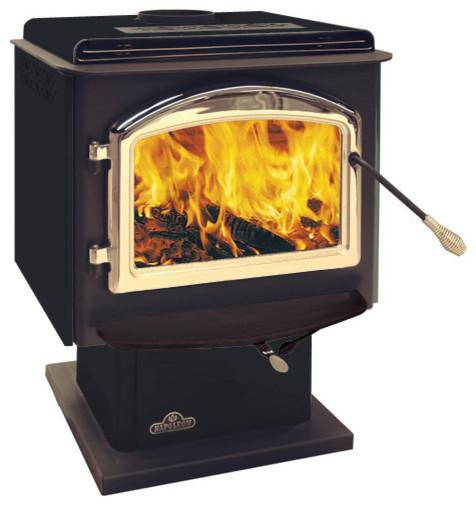 1400P Napoleon Medium Steel Wood Burning Pedestal Stove modern-fireplace-accessories