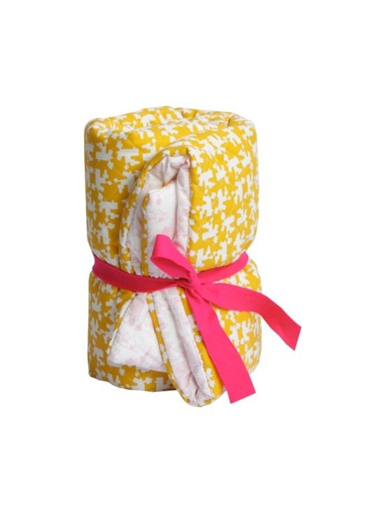 Dutch Playpen Blanket - Yellow & Pink -