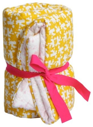 Dutch Playpen Blanket - Yellow & Pink contemporary-kids-bedding