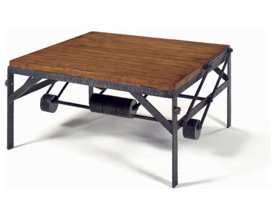 """Wright Table Company - The No. WR 24 High Low Table - Our first piece of motion furniture, this cocktail table is also a dinner table for two or a work table for one. Using a clever arrangement of pivot arms, counterweights, gravity, and very little effort, the top of this table may be lifted and pulled 26"""" toward the occupant(s) of a sofa or lounge chair. Plain, Mitered or Breadboard tops."""