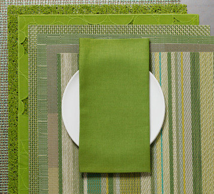 Chilewich Linen Napkin - Grass, Set of Eight contemporary-napkins