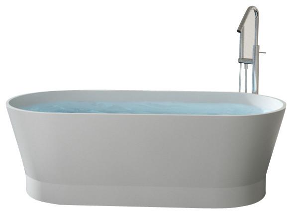 Badeloft - UPC Certified - Stone Resin, Freestanding Bathtub, Matte contemporary-bathtubs