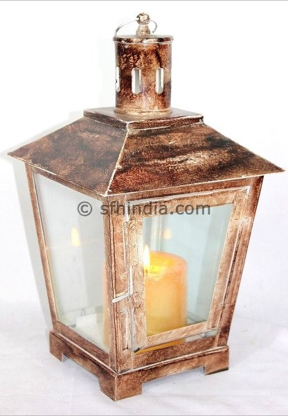 Home and Garden-Metal Lantern traditional-candles-and-candleholders