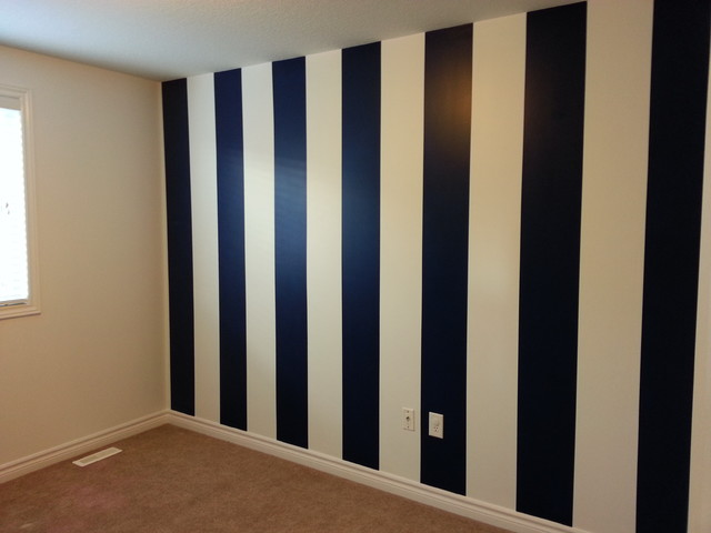 How to paint vertical stripes modern other metro by for Bedroom stripe paint ideas