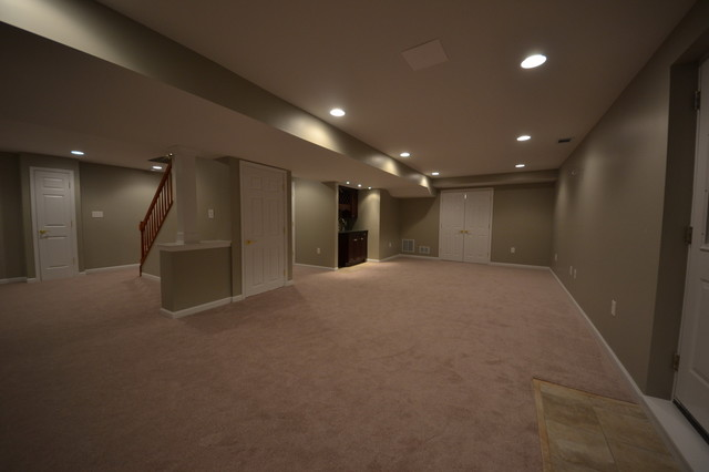 Finished basement, Forest hill, MD traditional-basement
