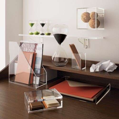 Format cube modern desk accessories by cb2 for Modern office decor accessories