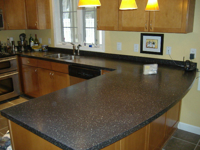 Corian countertops gravel traditional kitchen for Corian countertops