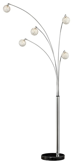 Possini Euro Design Allegra Crystal Ball Arc Floor Lamp