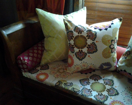 Eclectic custom cushions and pillows -