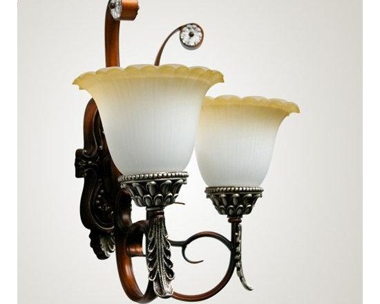 Western Classic Home Lighting of Wall Bronze - Weight:7 KGram