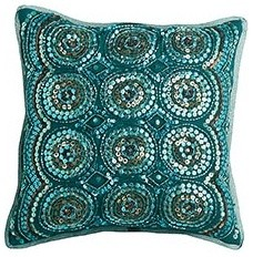 Sequin Circles Pillow eclectic-pillows