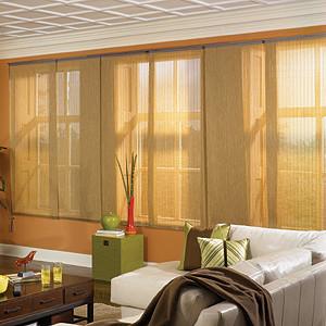 Bali Sliding Panels: Benton, Tropics, Villa & Vineyard (3-10% Openness) contemporary-vertical-blinds