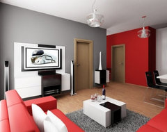 design-interior-living-room-red-white-black-and-gray.jpg (JPEG Image, 588 × 441