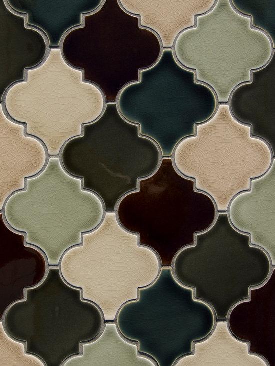 New Releases by Pratt and Larson - Pratt and Larson's Lg Arabesque (PF-ARLG ) shown in glazes: W84, W55, W45, W85, W40, W74 -Equal amounts