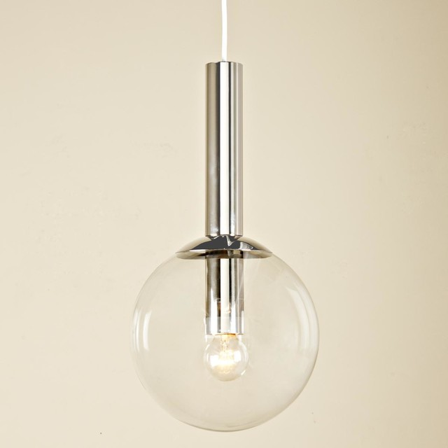 Clear Glass Globe Pendant