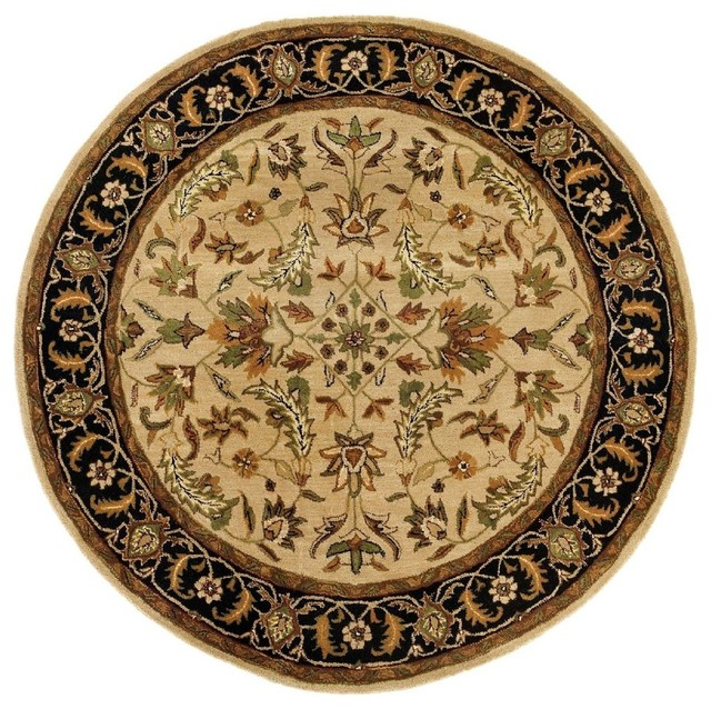 traditional traditions round 8 39 round tan area rug