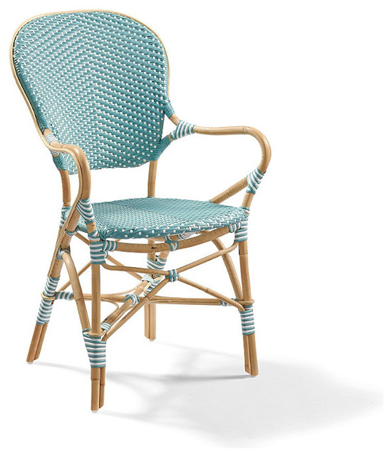 Set of Two Paris Outdoor Bistro Outdoor Armchairs