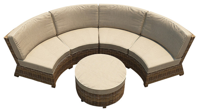 Cypress 3 Piece Curved Patio Sectional Set Spectrum