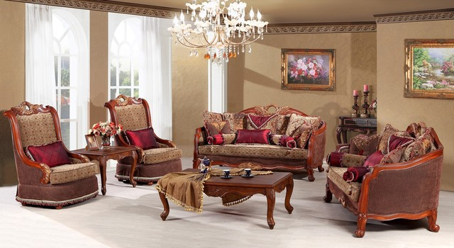 Mont Claire Luxury Living Room Sofa Set Traditional Living Room Furniture Sets Dallas By